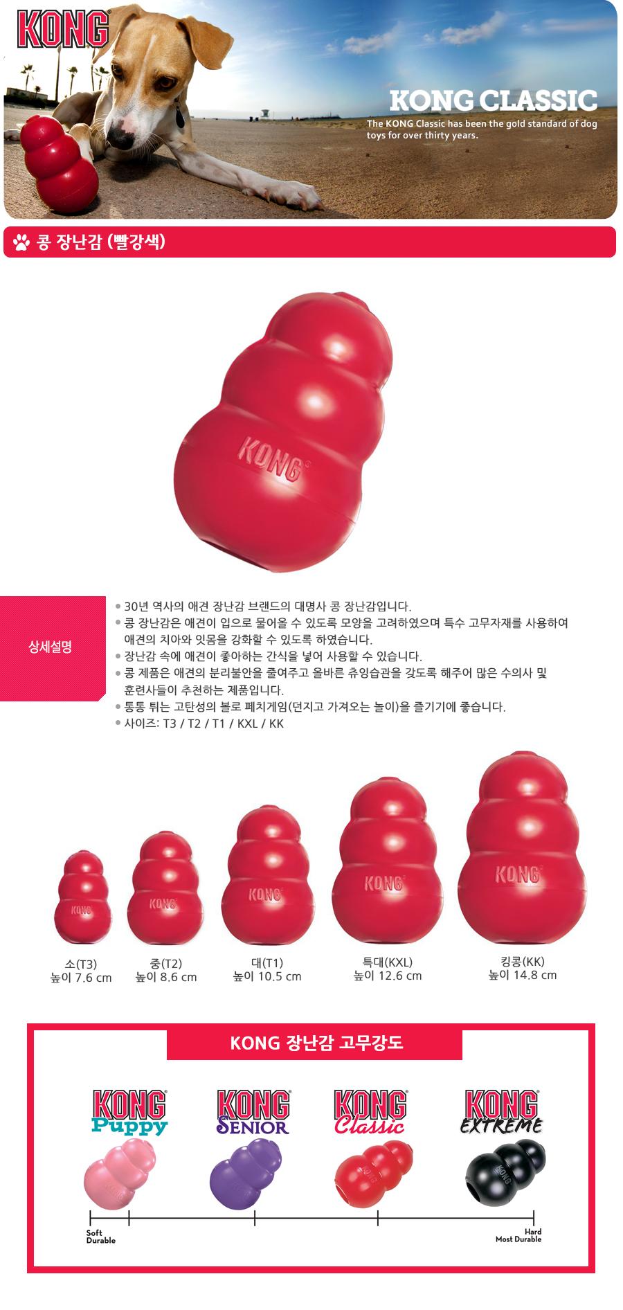 KONG 콩장난감 (소/중/대)-상품이미지-0